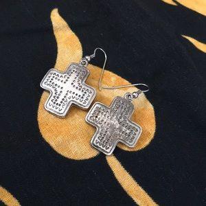 Jewelry - Stainless Steel Cross Earrings